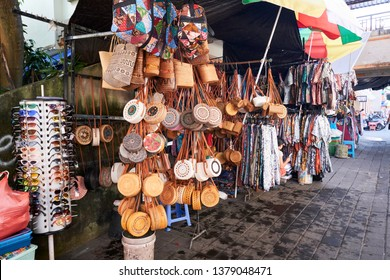 Ubud, Bali / Indonesia - April 22, 2019 : Traditional ubud art market.
