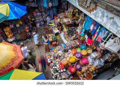Ubud, Bali - Indonesia - February 18 2016: Ubud Morning market