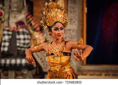 UBUD, BALI, INDONESIA - FEBRUARY, 23: Legong traditional Balinese dance in Ubud, Bali, Indonesia on February, 23, 2016