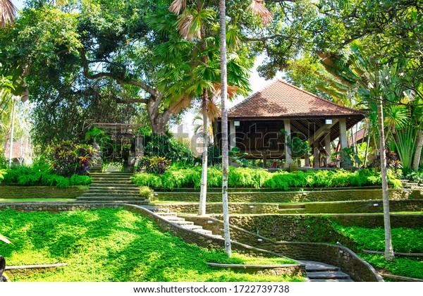 Ubud, Bali, Indonesia - January, 2020: Art Museum Puri Lukisan in Ubud, Bali, Indonesia.