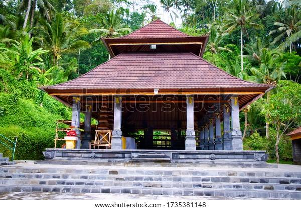 Ubud, Bali, Indonesia - January, 2020: Pura Gunung Kawi Temple in Ubud, Bali Island, Indonesia.