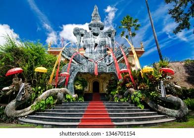 Ubud, Bali / Indonesia - July 2013 : Outdoor area of Blanco Renaissance Museum.