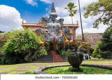 UBUD, INDONESIA - SEPTEMBER 21, 2017: Entrance of Don Antonio Blanco Museum in Ubud, Indonesia.