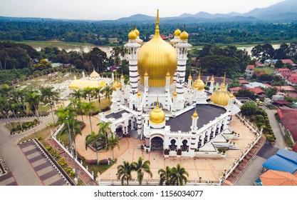 Ubudiah mosque, Kuala Kangsar, Perak, MALAYSIA. The mosque was built at the royal command of Sultan Idris Murshidul Azam Shah, the 28th Sultan Perak (1887 – 1916)