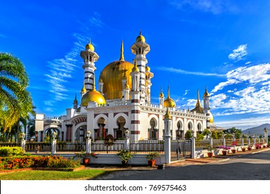 Ubudiah Mosque in Kuala Kangsar, Perak, Malaysia.
