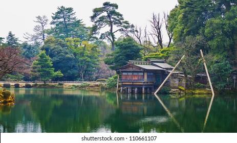Uchihashi-tei Tea House at Kenrokuen Garden in Kanazawa