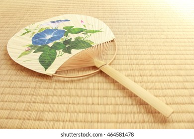 Uchiwa fan on Tatami mat
