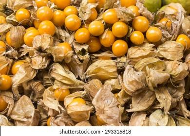 Uchuva delicious tropical fruit in Peru.