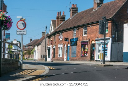 UCKFIELD, EAST SUSSEX, UK, SEPTEMBER 2018 - Church Street in the ancient town of Uckfield in the county of East Sussex, UK