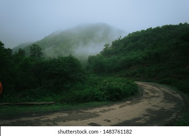 Udaipur is a city of lakes but there are less known parts and this near by village is one of it during monsoon, Udaipur, Rajasthan, India.