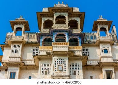 Udaipur city palace, India.