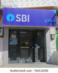 UDAIPUR INDIA - NOVEMBER 15, 2017: State Bank of India ATM. State Bank of India is Indian multinational public sector banking and financial services company.