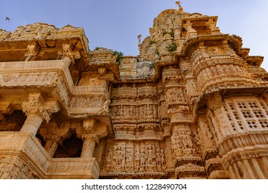Udaipur, Rajasthan, India-October, 2018:  Jagdish Temple is a  Hindu temple built in Indo-Aryan style of architecture comprises of beautifully carved pillars, painted walls, decorated ceilings.