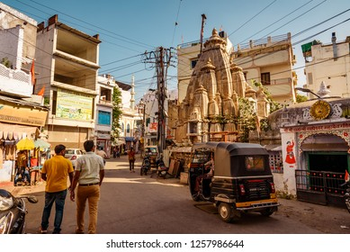 Udaipur,India-October, 2018: It is a  popular tourist city in Rajasthan which have Hindu temple built in Indo-Aryan style of architecture.