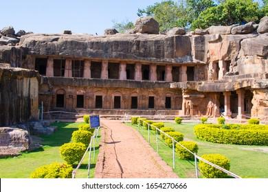 Udayagiri and Khandagiri Caves, formerly called as Kattaka Caves or Cuttack caves located near the city of Bhubaneswar in Odisha, India.