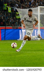 UDINE, ITALY - OCT 6, 2018: Emre Can runs for the ball. Udinese - Juventus. Dacia Arena stadium. Serie A TIM