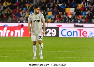 UDINE, ITALY - OCT 6, 2018: Emre Can. Udinese - Juventus. Dacia Arena stadium. Serie A TIM