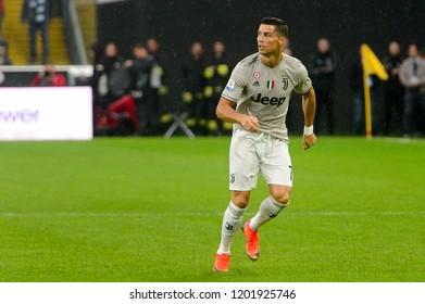 UDINE, ITALY - OCT 6, 2018: Cristiano Ronaldo. Udinese - Juventus. Dacia Arena stadium. Serie A TIM