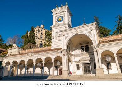 Udine/Italy - 12.23.2018: The view on the city centre of Udine town, Italy