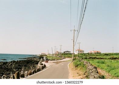 Udo island street - Jeju island, South Korea