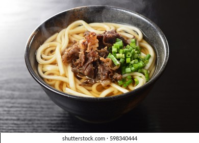 udon noodles with meat