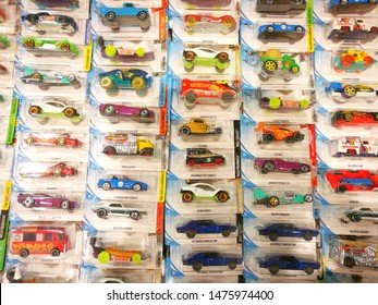 "Udon Thani, Thailand 11 Aug 2019 ""Hotwheels"" toy car that has many models being sold in department stores in Thailand."