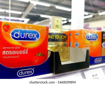 Udon Thani Thailand 24 Jul 2019 Durex condoms available in a variety of supermarkets in Thailand.