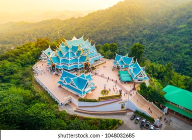 Udon Thani, Thailand - Dec, 05, 2017 : Wat Pa Phu Kon is a place of religious tourism. A beautiful and located in Ban Na Kham, Tambon Ban Kong, Na Yung district, Udon Thani province, Thailand