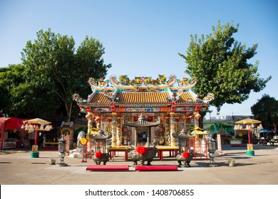 UDON THANI, THAILAND - DECEMBER 19 : San Chao Pu Ya chinese temple or great grandfather and grandmother ancestor shrine for people visit and respect pray on December 19, 2017 in Udon Thani, Thailand