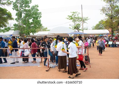 UDONTHANI Thailand - APRIL, 06, 2017 : Many People in Kham Chanod, the Holy Place of the Naga believe in Thailand