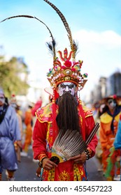 UDONTHANI, THAILAND - DECEMBER 5 : Winter parade In annual festival of the udonthani. Udonthani Shrine Year celebrations on December 5, 2015 in Udonthani, Thailand