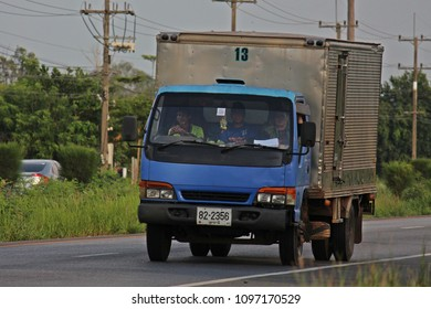 UDONTHANI, THAILAND – MAY 17, 2018:  TRUCK,  a truck is running on highway,  in UDONTHANI province  THAILAND.