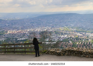 The Uetliberg  is a panoramic view of the entire city of Zürich, Switzerland