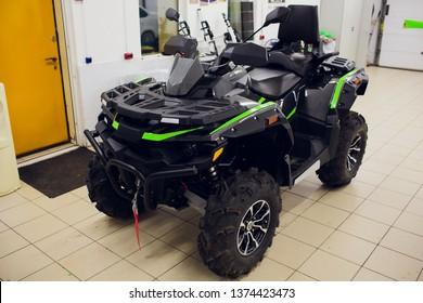 Ufa, Russia, 2 July, 2018: Quad bike BRP Can-Am OUTLANDER 800 XMR.