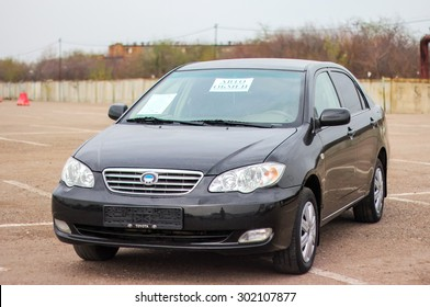UFA, RUSSIA - APRIL 19, 2012: Motor car BYD F3 at the used cars trade center.