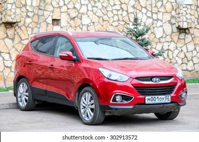 UFA, RUSSIA - APRIL 24, 2012: Motor car Hyundai ix35 at the city street.