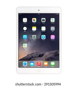 UFA, RUSSIA - JUNE 28, 2015: New iPad mini retina is a tablet developed by Apple Inc. Apple releases the new iPad mini retina.