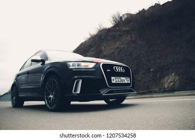 UFA, RUSSIA - MARCH 4, 2018: Sportsline Audi RS Q3 on the street.