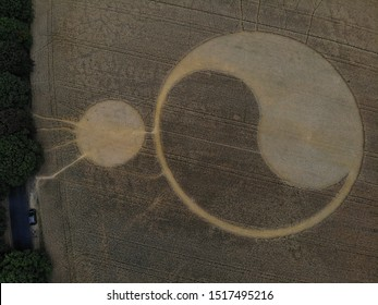 UFO or art crop circles in central Poland