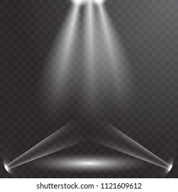 UFO light beam isolated on transparnt background.  illustration