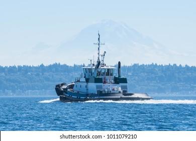 ug Transiting Puget Sound, Washington, on way to Seattle