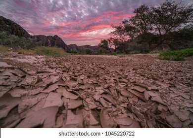 The Ugab River, a dry river bed deep in Damaraland, Namibia.
