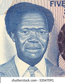 UGANDA - CIRCA 1983: Milton Obote (1925-2005) on 500 Shillings 1983 Banknote from Uganda. Political leader who led Uganda towards independence from the British colonial administration in 1962.
