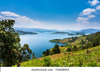 Uganda lake  landscape