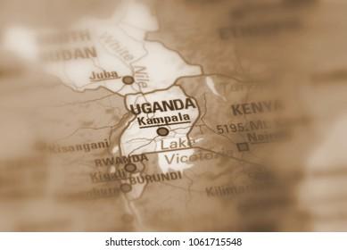 Uganda, officially the Republic of Uganda  (sepia selective focus).