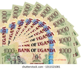 Uganda Paper Money Shillings - Banknote - Background of Images