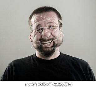 Ugly man portrait