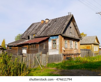 Ugly Russian wooden house