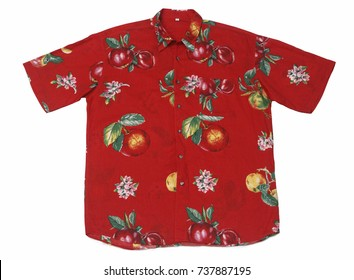 Ugly shirt Design: Hawaiian design isolated on white background