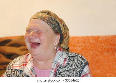 An ugly woman with red interesting face